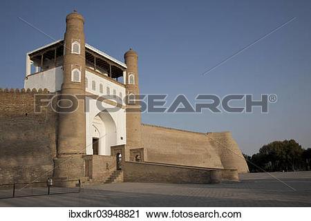 "Stock Photography of ""Ark of Bukhara, citadel, Bukhara, Buxoro."