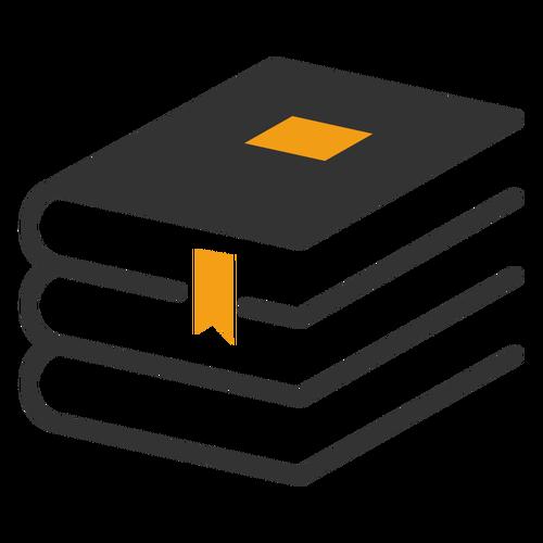 Simbol Buku Png Vector, Clipart, PSD.