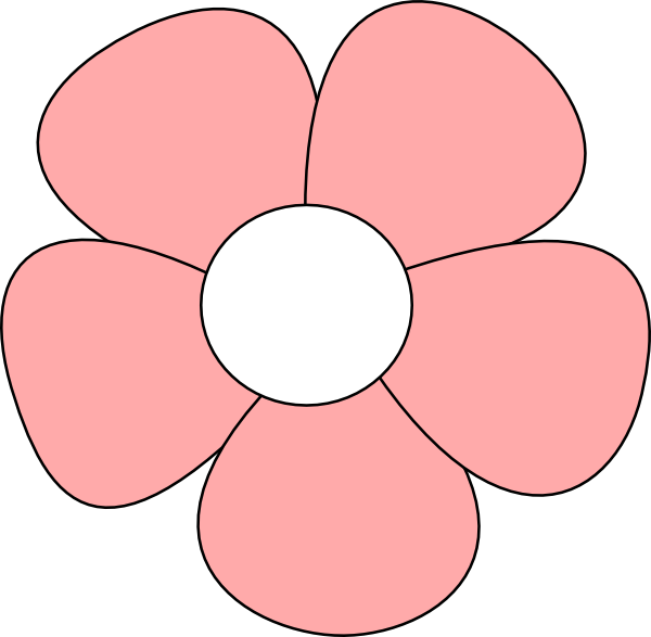 Clipart Of Rd, Bulaklak And Flower Pastel.