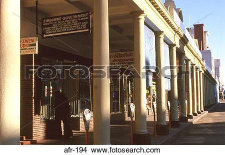 Stock Photo of Arcade Bulawayo Zimbabwe afr.