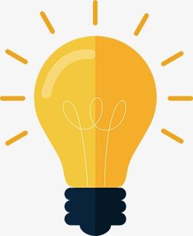 Yellow Light Bulb, Light Bulb, Business, Lamps PNG Transparent Image.