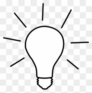 Light Bulb Clipart Black And White, Transparent Png Clipart Images.