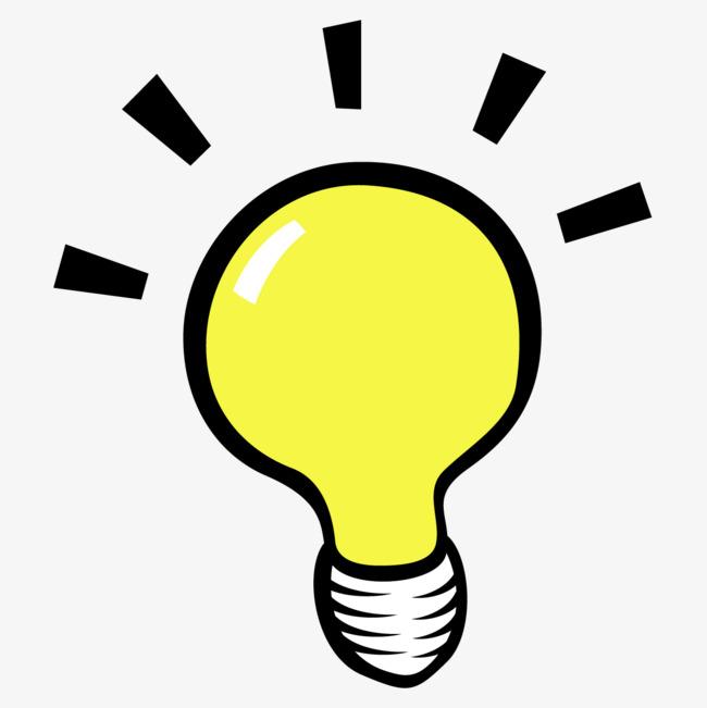 Cartoon Yellow Bulb, Cartoon Clipart, Light Bulb, Png Picture PNG.