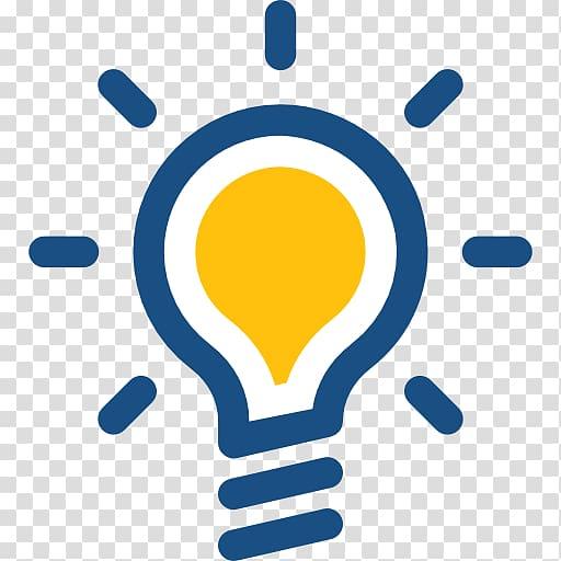 Logo Incandescent light bulb, design transparent background.