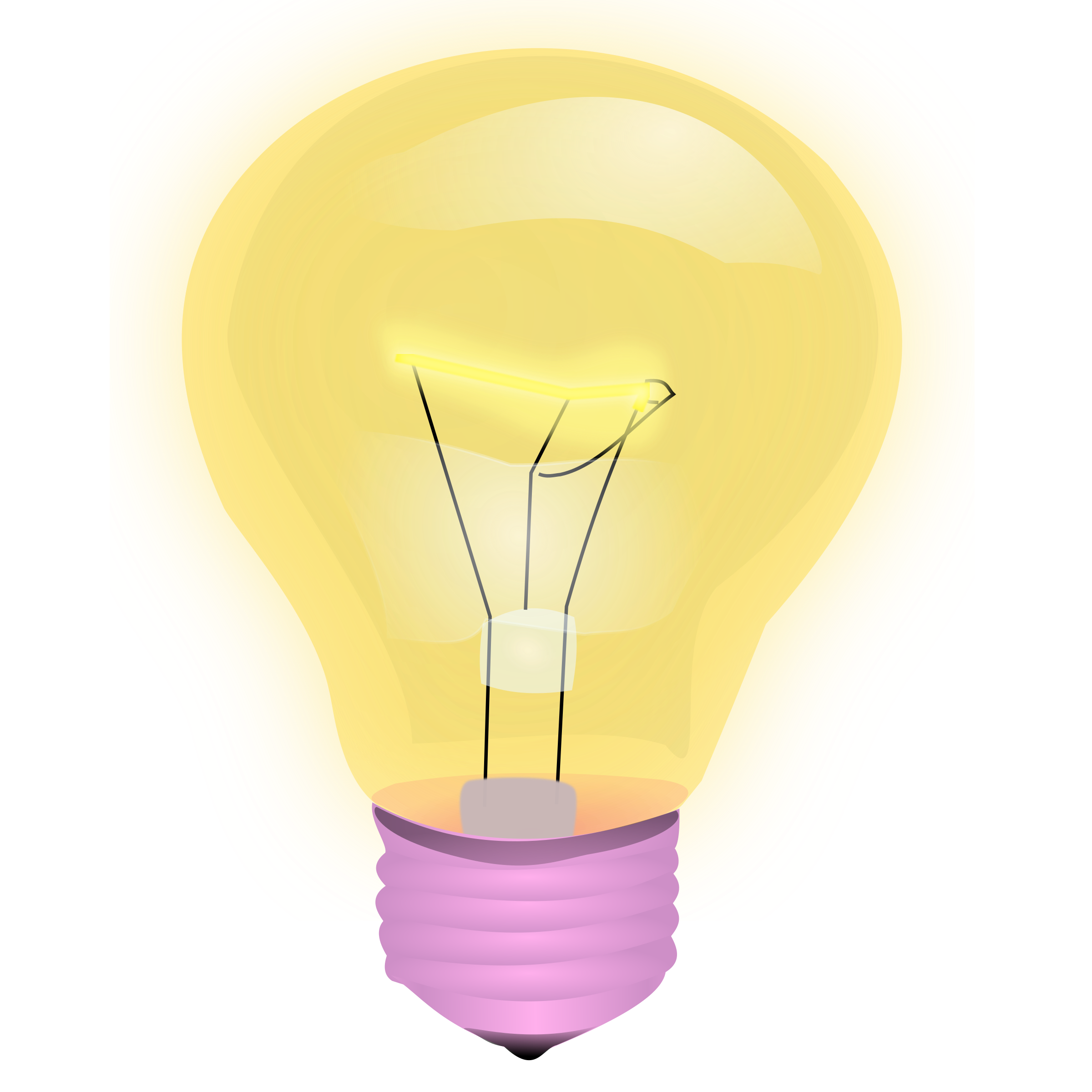 Light Bulb Vector Clipart.