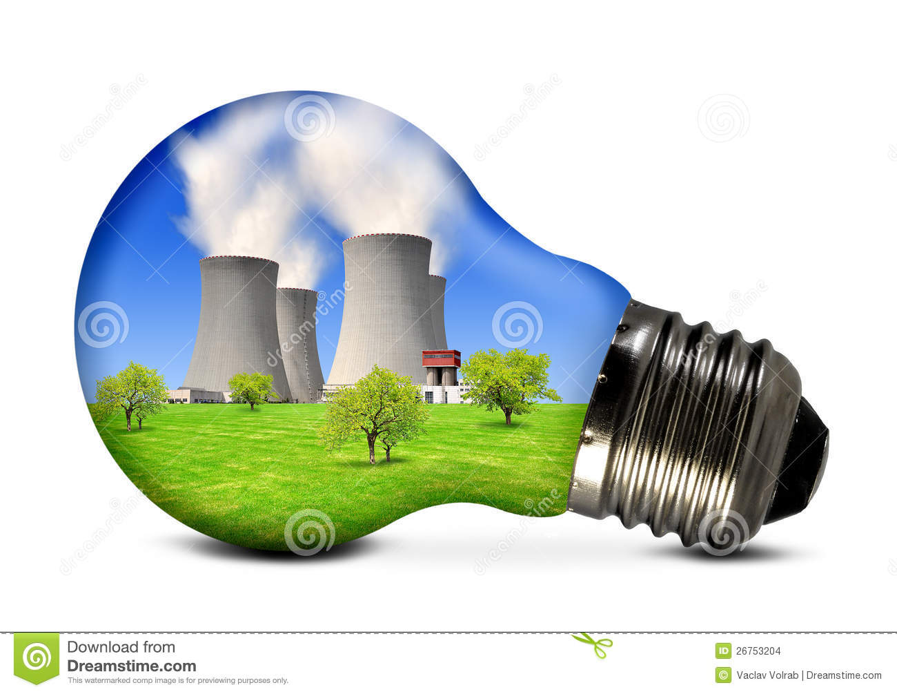 Nuclear Energy Clipart Nuclear Power Plant In Bulb #2a8IZm.