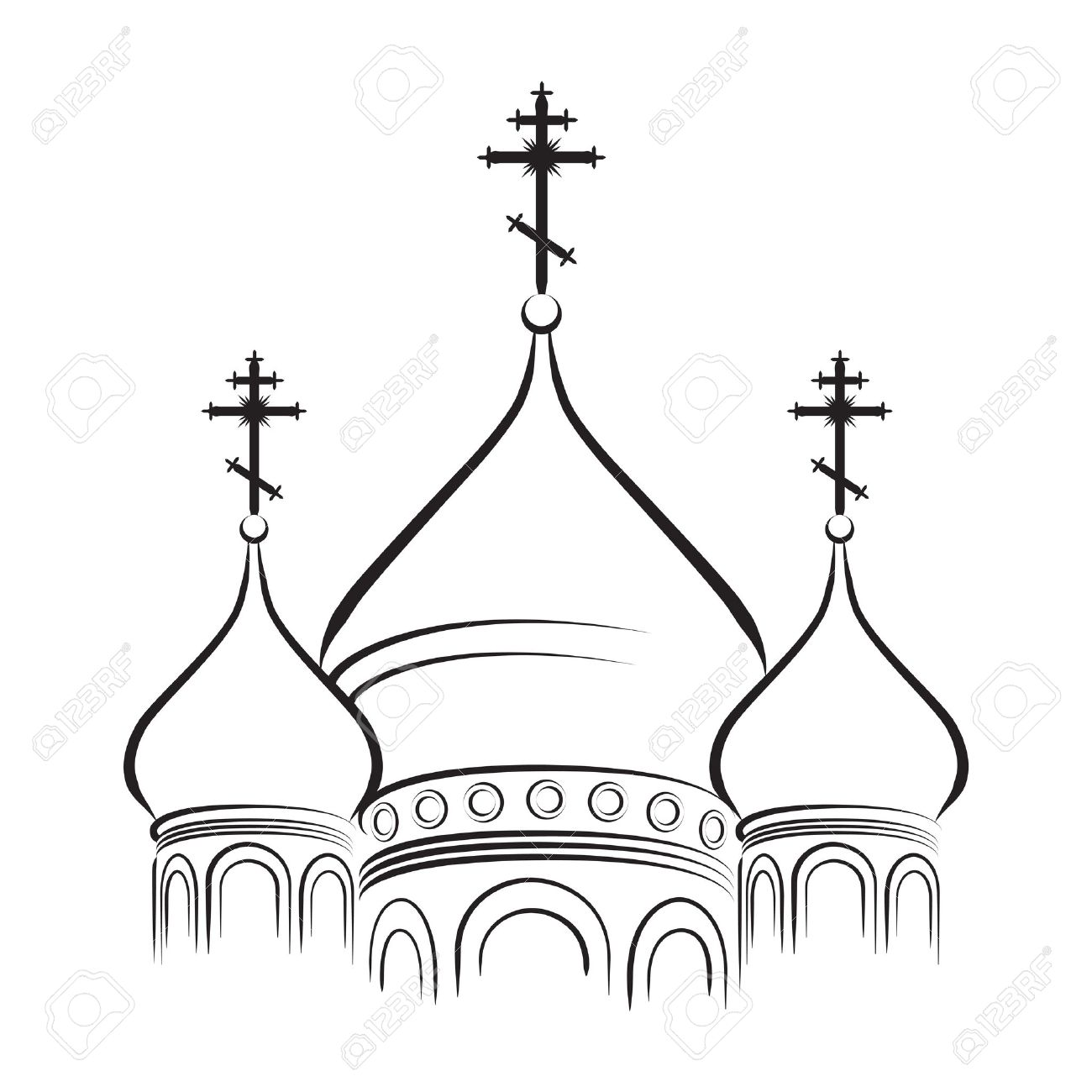 Church outline clip art.