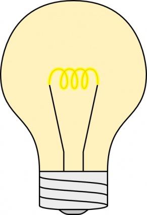 Clip art of light bulb.
