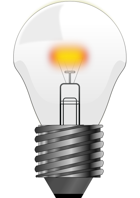 Led bulbs clipart.