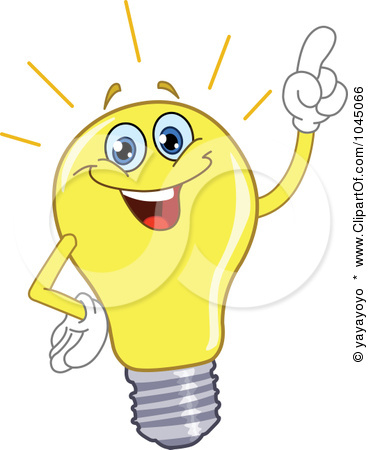 Light bulbs clipart.