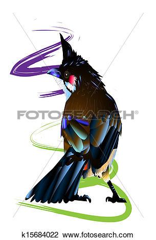 Clip Art of Bulbul art k15684022.