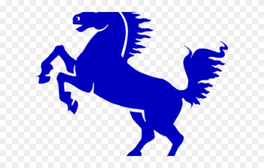 Stallion Clipart Blue.