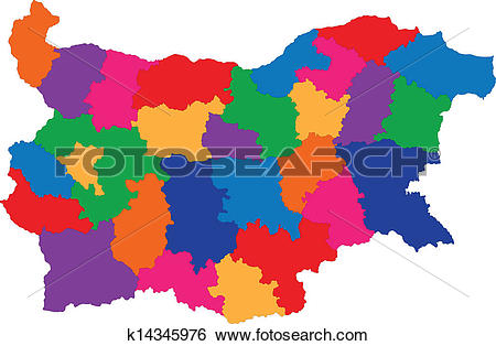 Clip Art of Bulgaria map k14345976.
