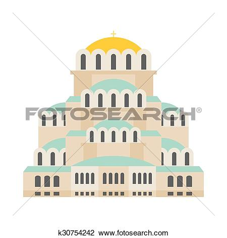 Clipart of Church Of St. Alexander Nevsky. Patriarchal Cathedral.