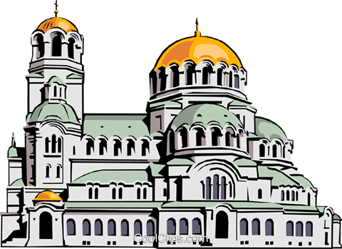Alexander Nevski Church Royalty Free Vector Clip Art illustration.
