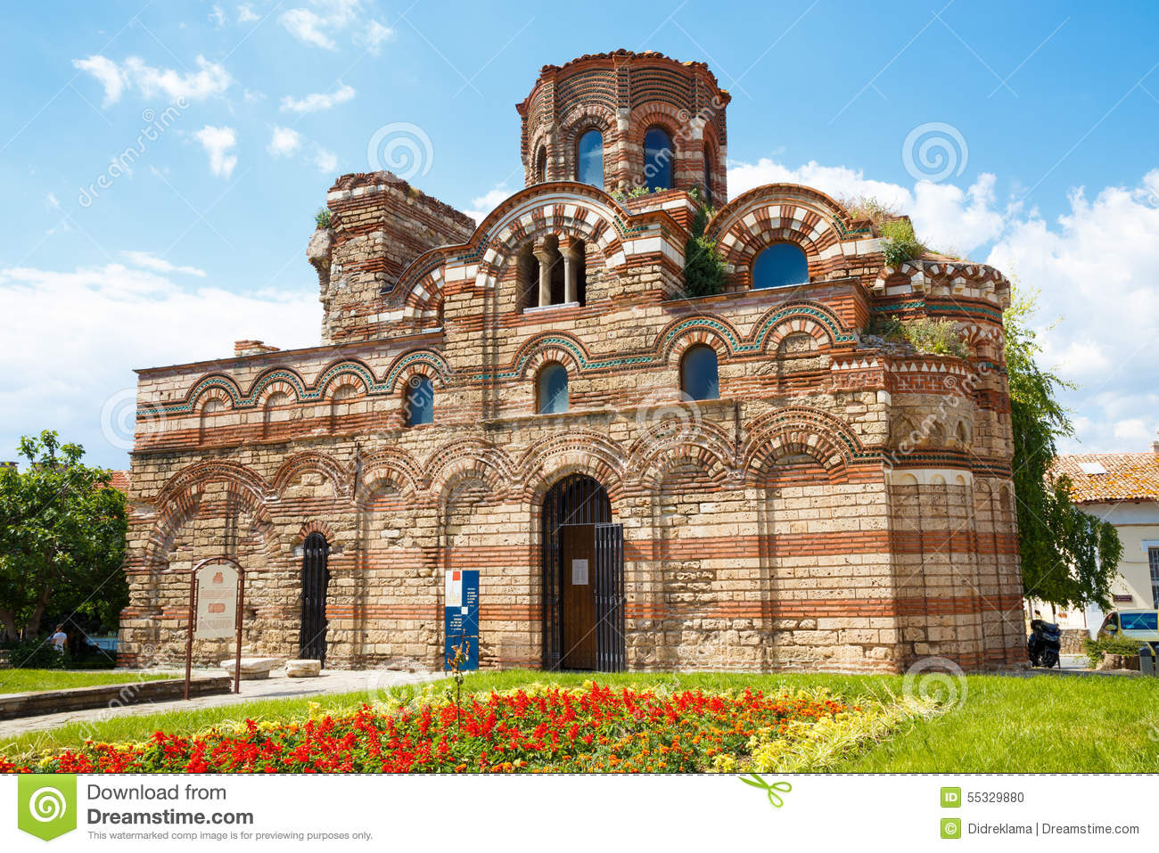Church Of Christ Pantocrator, Nesebar, Bulgaria Stock Photo.