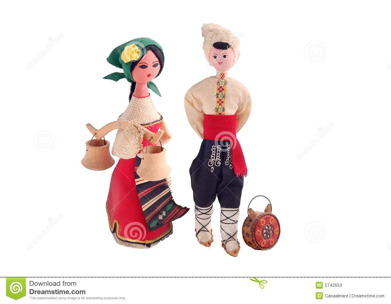 Bulgarian Doll Stock Photos.