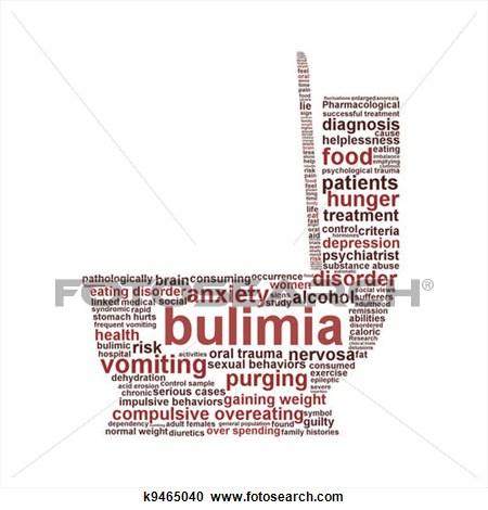 Bulimia cliparts.