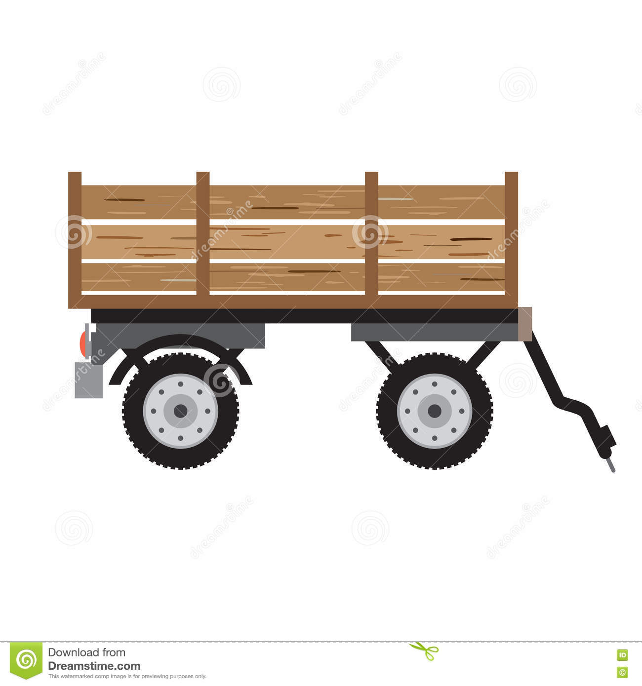 Tractor Trailer For Bulk Materials. Agricultural Machinery Rural.