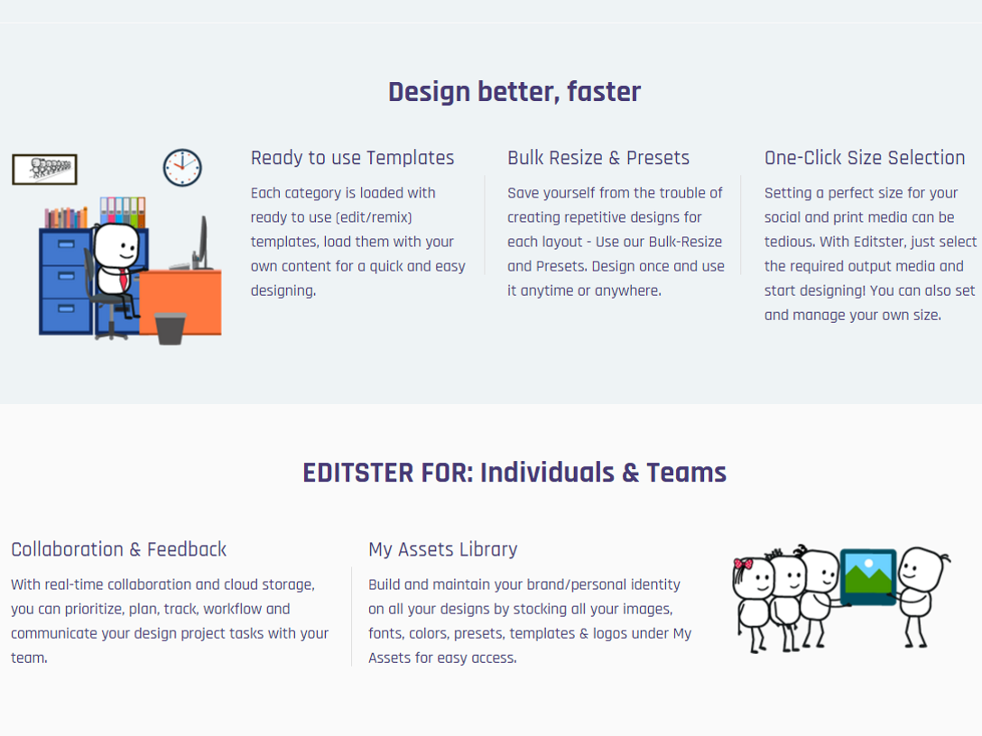 Editster: A free design editor for photo, print, web and social.