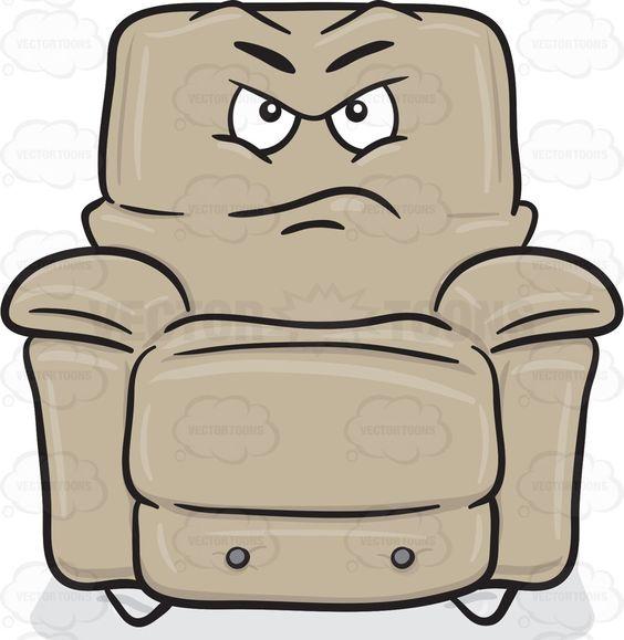 Upset And Maddened Look On Stuffed Chair Emoji.