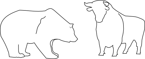 Bull And Bear clip art Free vector in Open office drawing svg ( .svg.