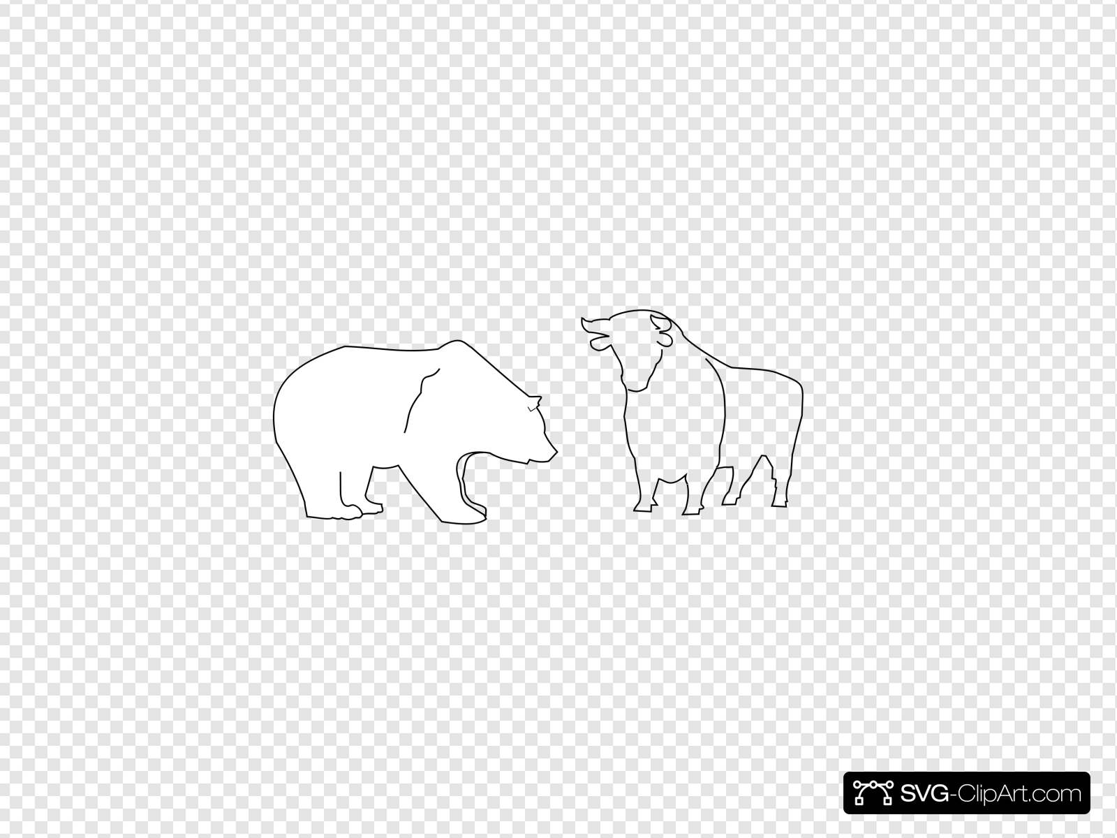 Bull And Bear Clip art, Icon and SVG.