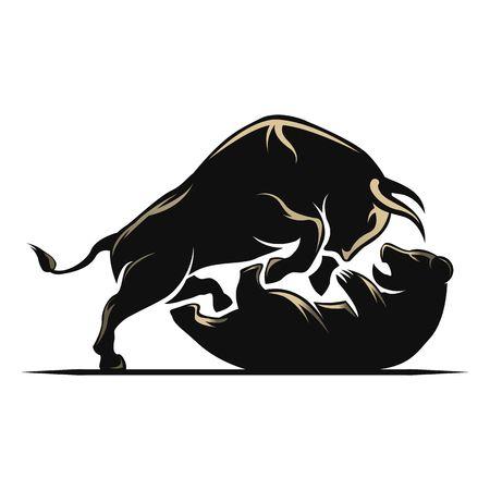 2,391 Bull Bear Stock Vector Illustration And Royalty Free Bull Bear.