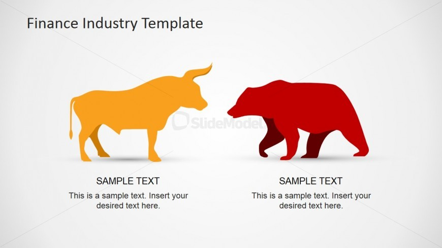 Bull and Bear Clipart for Financial Themes.