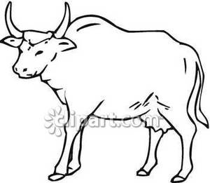 Bull clipart black and white 9 » Clipart Station.