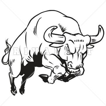 Bull clipart black and white 6 » Clipart Station.