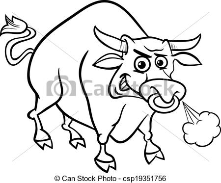 Bull clipart black and white 5 » Clipart Station.