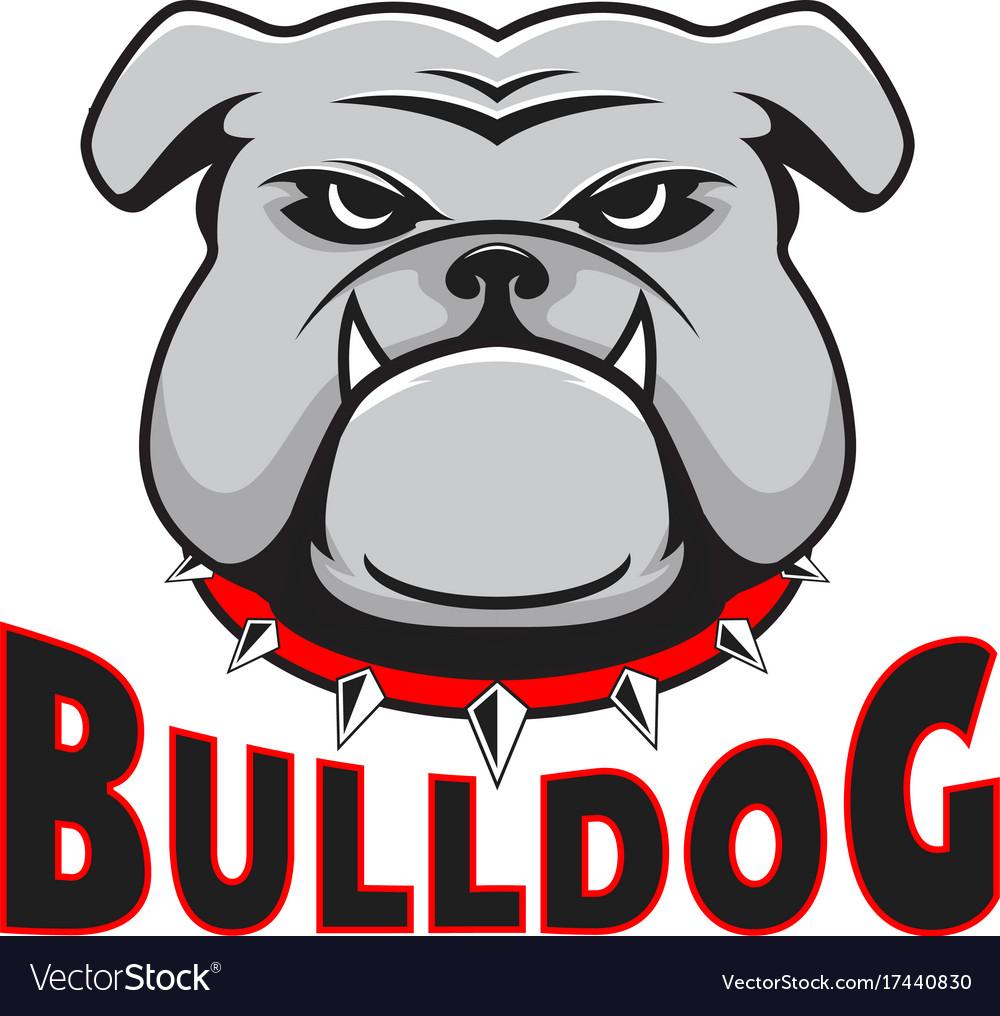 Logo bulldog head.