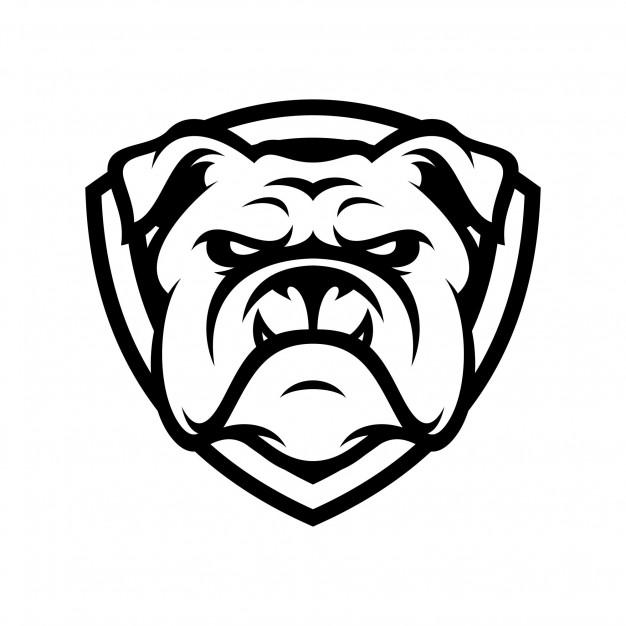 Bulldog animal sport mascot head logo vector Vector.