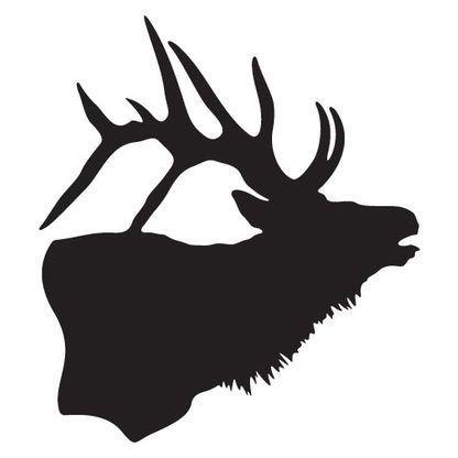 Elk Silhouette Decal.
