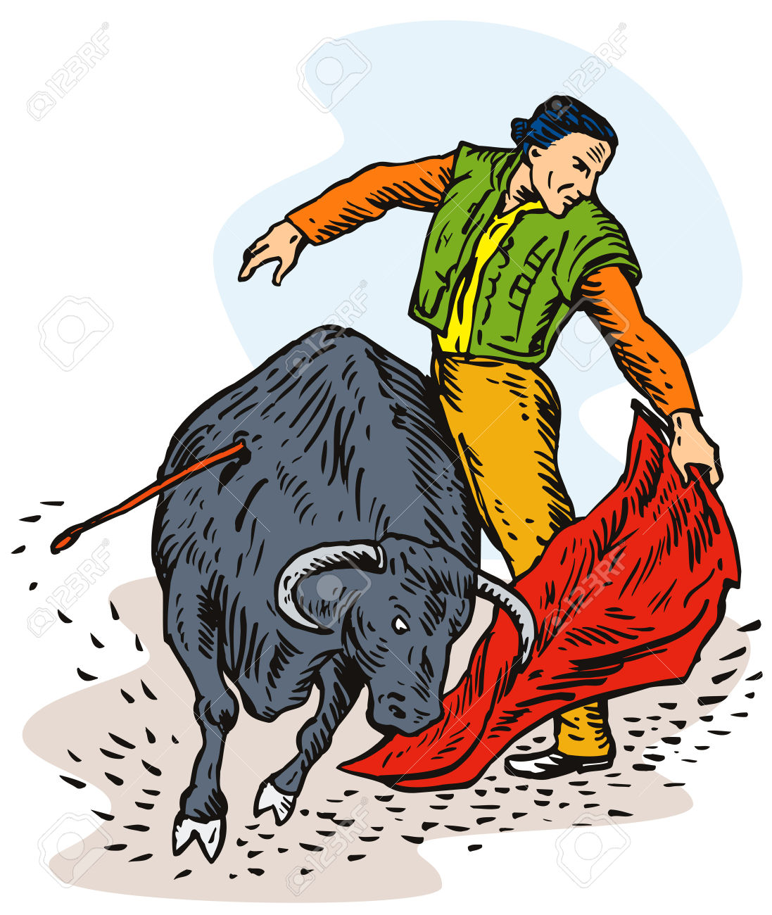 Bull Fighting Royalty Free Cliparts, Vectors, And Stock.
