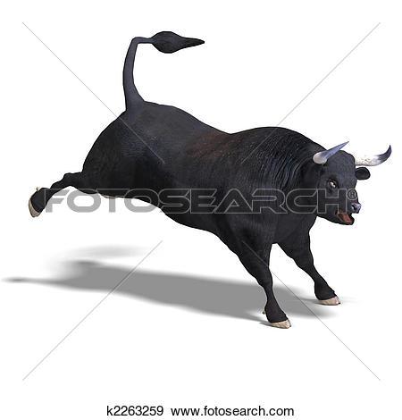 Clipart of Bull fighting matador k6235263.