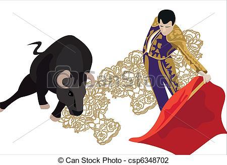 Bullfighting Clip Art Vector Graphics. 779 Bullfighting EPS.
