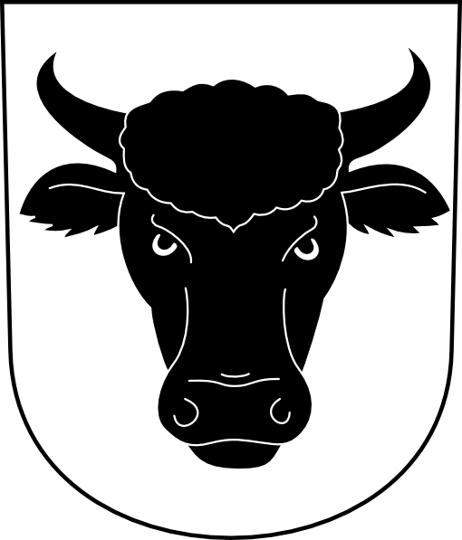 Cow Bull Horns Wipp Urdorf Coat Of Arms Clip Art at Clker.com.