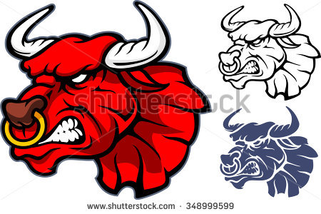 Bull Head Stock Images, Royalty.