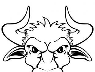 Bull Head Vector ClipArt.