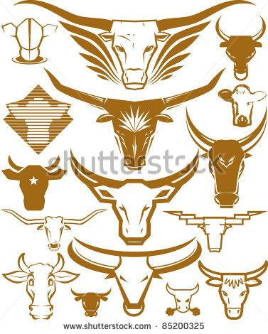 Bull Horns Stock Images, Royalty.