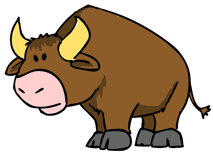 Cartoon Bull clipart. Free download..