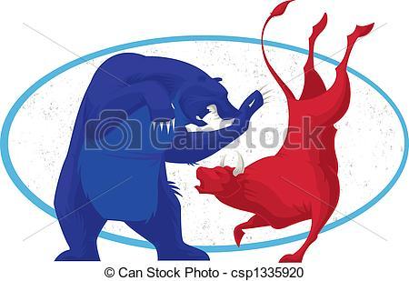 Bear bull market Illustrations and Clipart. 490 Bear bull market.