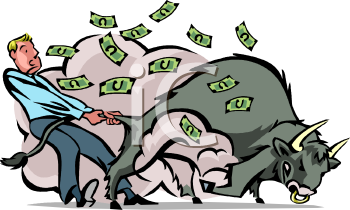 Stock Market Bull Market Symbol.