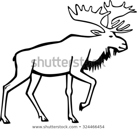 Bull Moose Stock Vector (Royalty Free) 324466454.