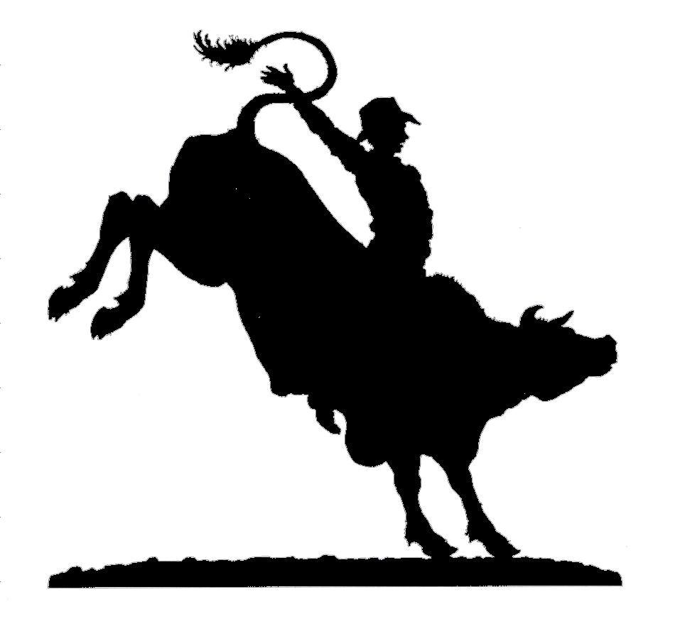 Joanne\'s Custom Bull Rider Silhouette Featuring different.