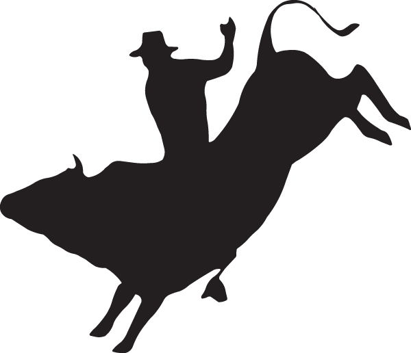 Bull riding Decal Rodeo Sticker.