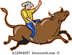 Bull rider Clip Art Illustrations. 220 bull rider clipart EPS.