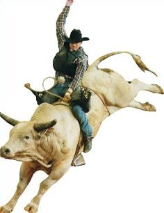 Free Bull Riding Clipart.